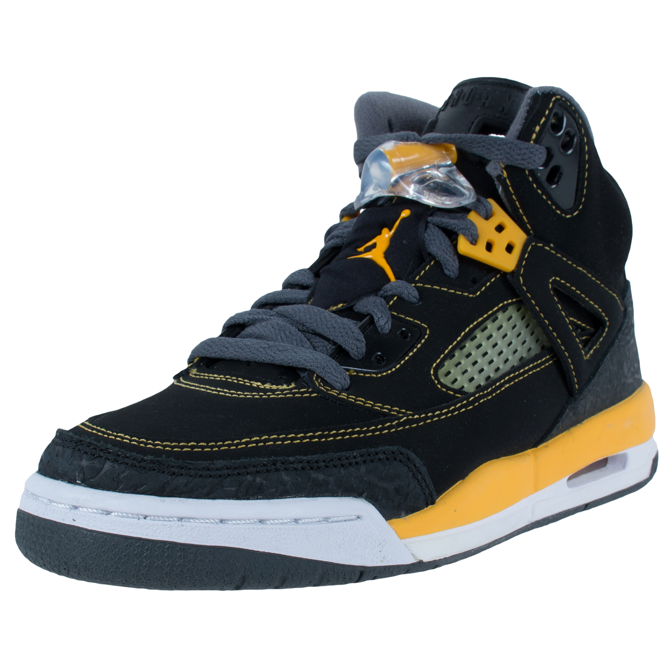 Nike JORDAN SPIZIKE GS 'THUNDER' BASKETBALL SHOES BLACK G...
