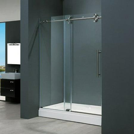 Vigo frameless sliding shower door for Discount frameless shower doors