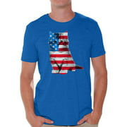 Awkward Styles Cat Shirts Mens USA Flag Patriotic Graphic Tshirt Tops 4th of July Gifts Cute Kitten American Flag T Shirt for Men Independence Day Stars and Stripes Shirts Cat Lover Shirts