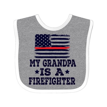 Firefighter Grandpa Fireman Flag Baby