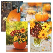 Deluxe Autumn Florals Thanksgiving Greeting Cards- Set of 8 Thanksgiving Greeting Cards