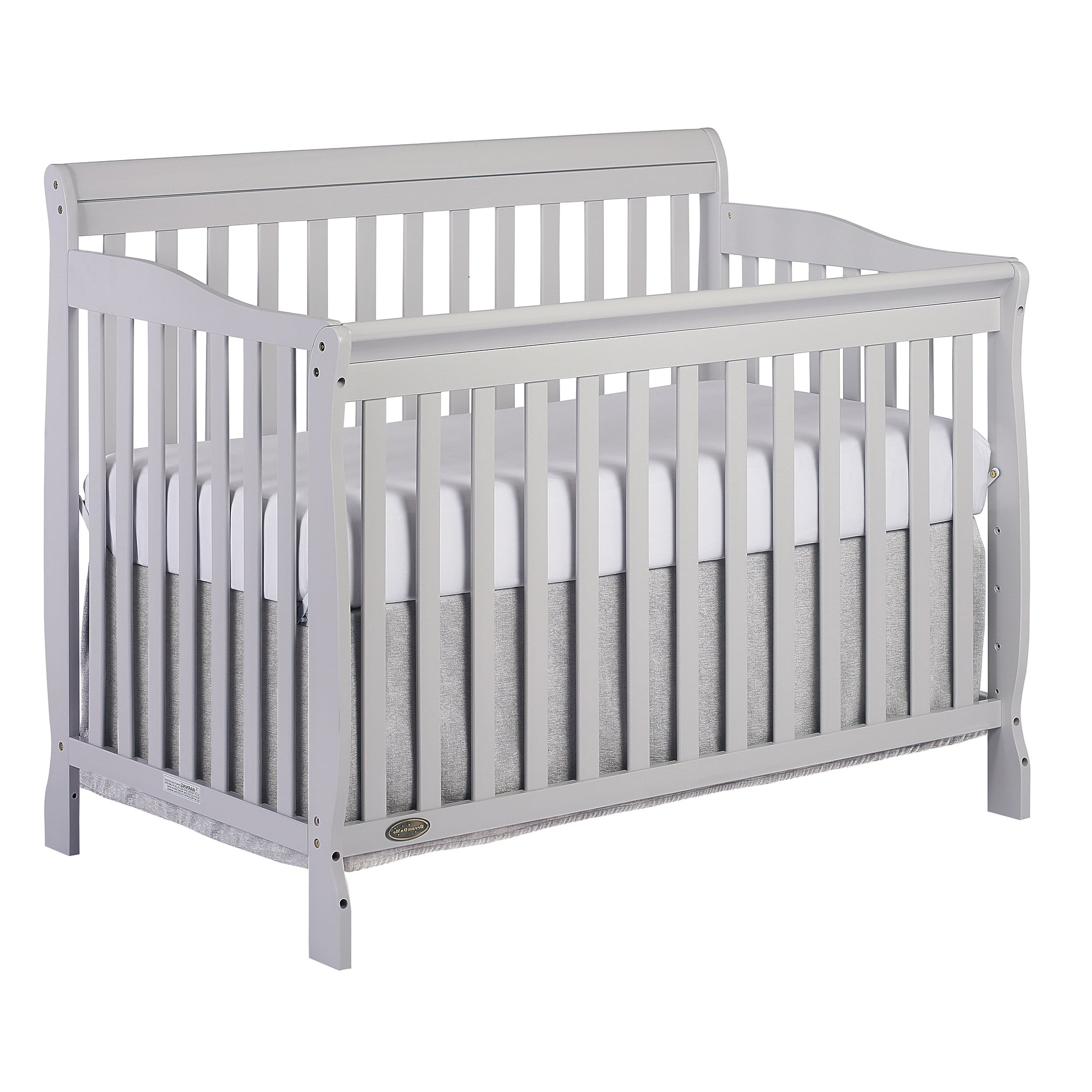 Full Size Storm Grey Dream on Me Addison 5-in-1 Convertible Crib