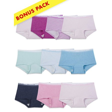 cd4ce4cd5 Fruit of the Loom - Assorted Heather Boy Shorts, 9+1 Holiday Bonus Pack  (Little Girls & Big Girls) - Walmart.com