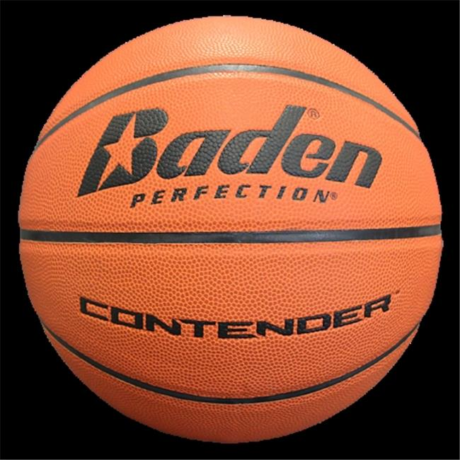 Baden B301-07-F4 Contender Official Wide Channel Basketball Size 29. 5 inch Natural Orange Color