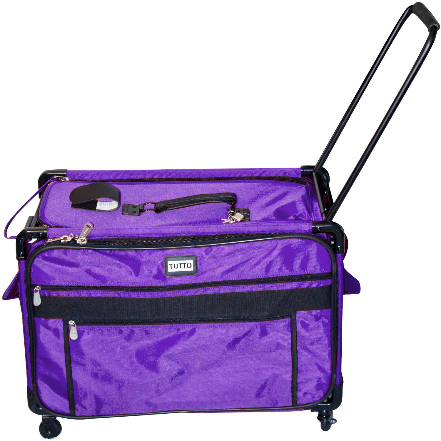 TUTTO Machine on Wheels 2XL Nylon Tote Bag, Purple