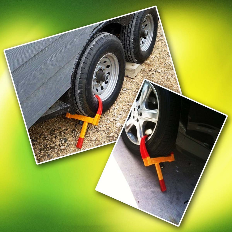 Wheel Lock Heavy-duty Car Tire Wheel Lock Anti-theft Lock,