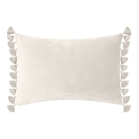 Better Homes & Gardens Feather Filled Tassled Velvet Oblong Decorative Throw Pillow, 14