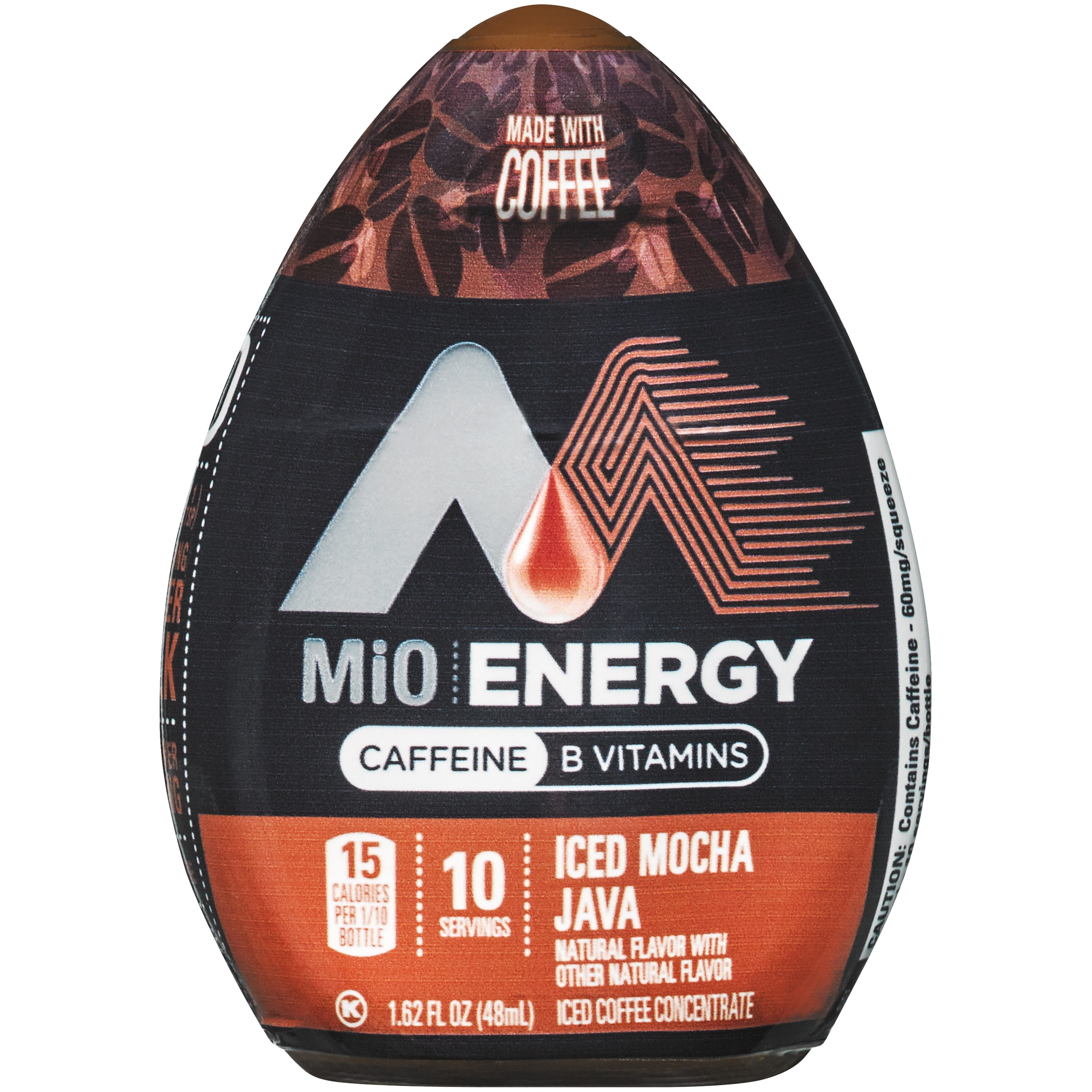 (2 pack) MiO Energy Iced Mocha Java Iced Coffee Concentrate, 12 - 1.62 fl oz Bottles