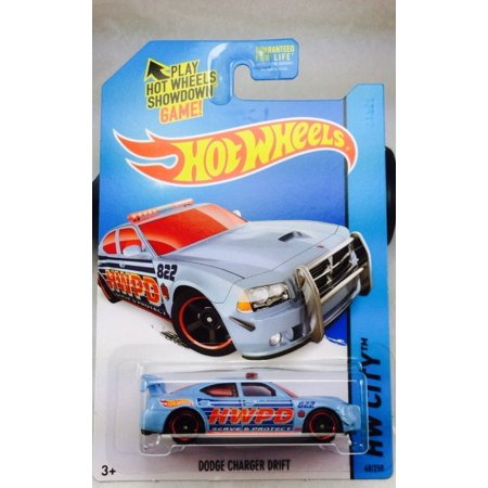 (2014 Hot Wheels Hw City 48/250 - Dodge Charger Drift - Light Blue, DIE-CAST WITH PLASTIC PARTS By Mattel)