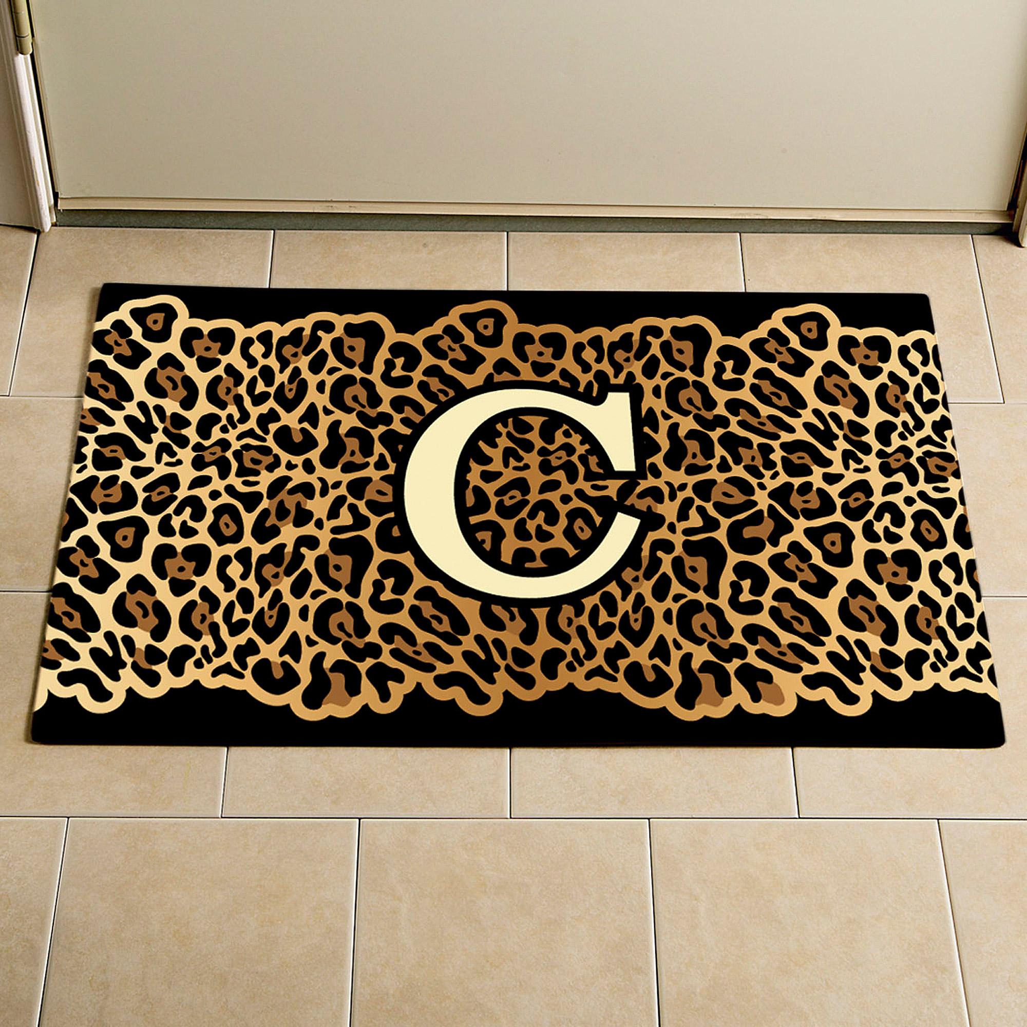 Personalized Leopard Print Doormat