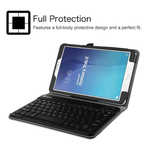 new concept 9ab39 8b081 Fintie Case for Samsung Galaxy Tab E 9.6 Tablet - Folio Cover with  Removable Bluetooth Keyboard, Black