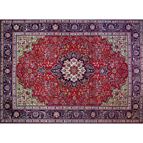 Isabelline One-of-a-Kind Pitchford Hand-Knotted 8'3'' x 11'9'' Red/Purple Area Rug