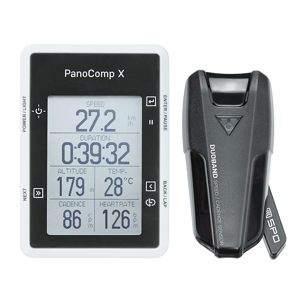 Topeak PanoComp X Bluetooth Wireless Cycle Computer with Speed/Cadence Black