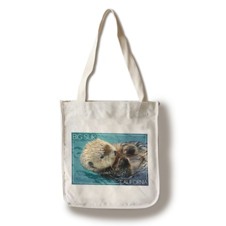California Tote Bag (Big Sur, California - Sea Otter Photograph (100% Cotton Tote Bag -)
