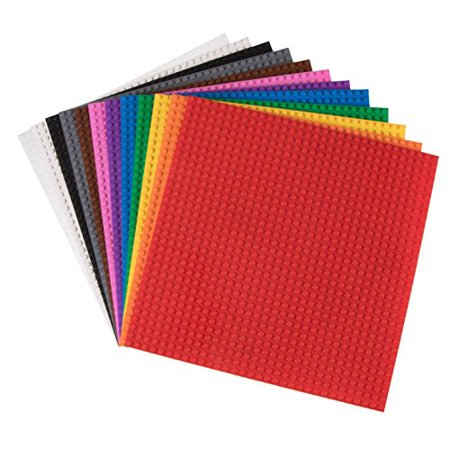 Clic Baseplates 10 X 12 Pack By Strictly Briks Lego Compatible Build Towers Tableore Base Plates In Fun Colors