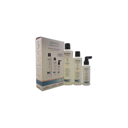 System 5 Thinning Hair Kit For Medium/Coarse Nat. Normal - Thin Hair Nioxin 3 Pc kit 10.1oz Cleanser, 5.1oz Scalp Therapy, 3.4oz Scalp Activating Treating