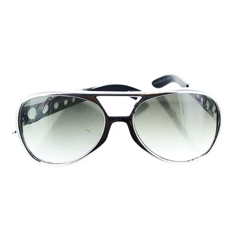 Rock n' Roll Silver Adult Costume Glasses](Silver Rock)