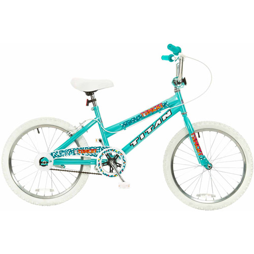 "20"" Titan Tomcat Girls' BMX Bike with Pads, Teal Blue"