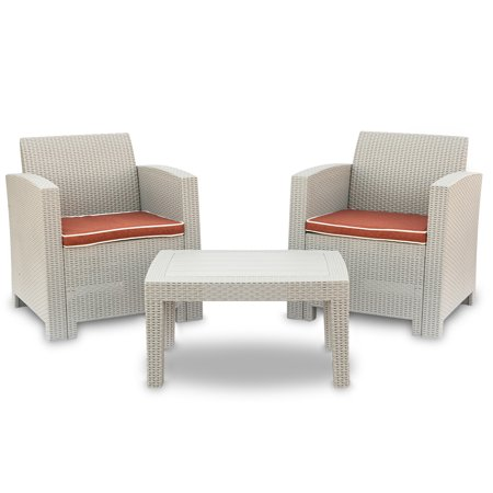 Astonishing Patio Pe Rattan Wicker Sofa Outdoor Sectional Furniture Conversation Chairs Set With Cushions Gray White Unemploymentrelief Wooden Chair Designs For Living Room Unemploymentrelieforg