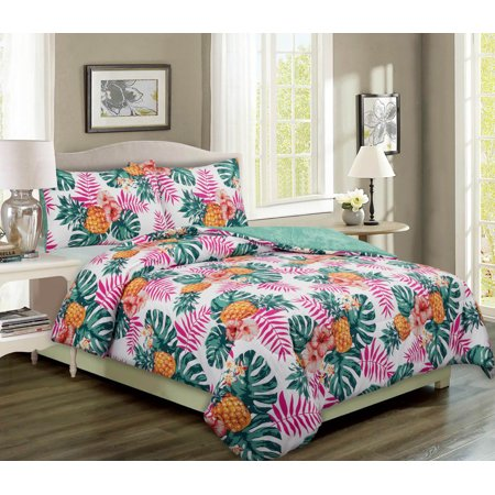 Mainstays Pineapple Palm Print Bed In A Bag -