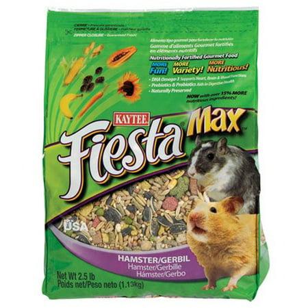 - Kaytee Fiesta Gourmet Variety Diet Hamster & Gerbil Food, 2.5 Lb