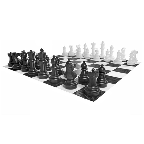 Kettler Giant Chess Complete Set with 10 x 10 Feet Large Game Board by
