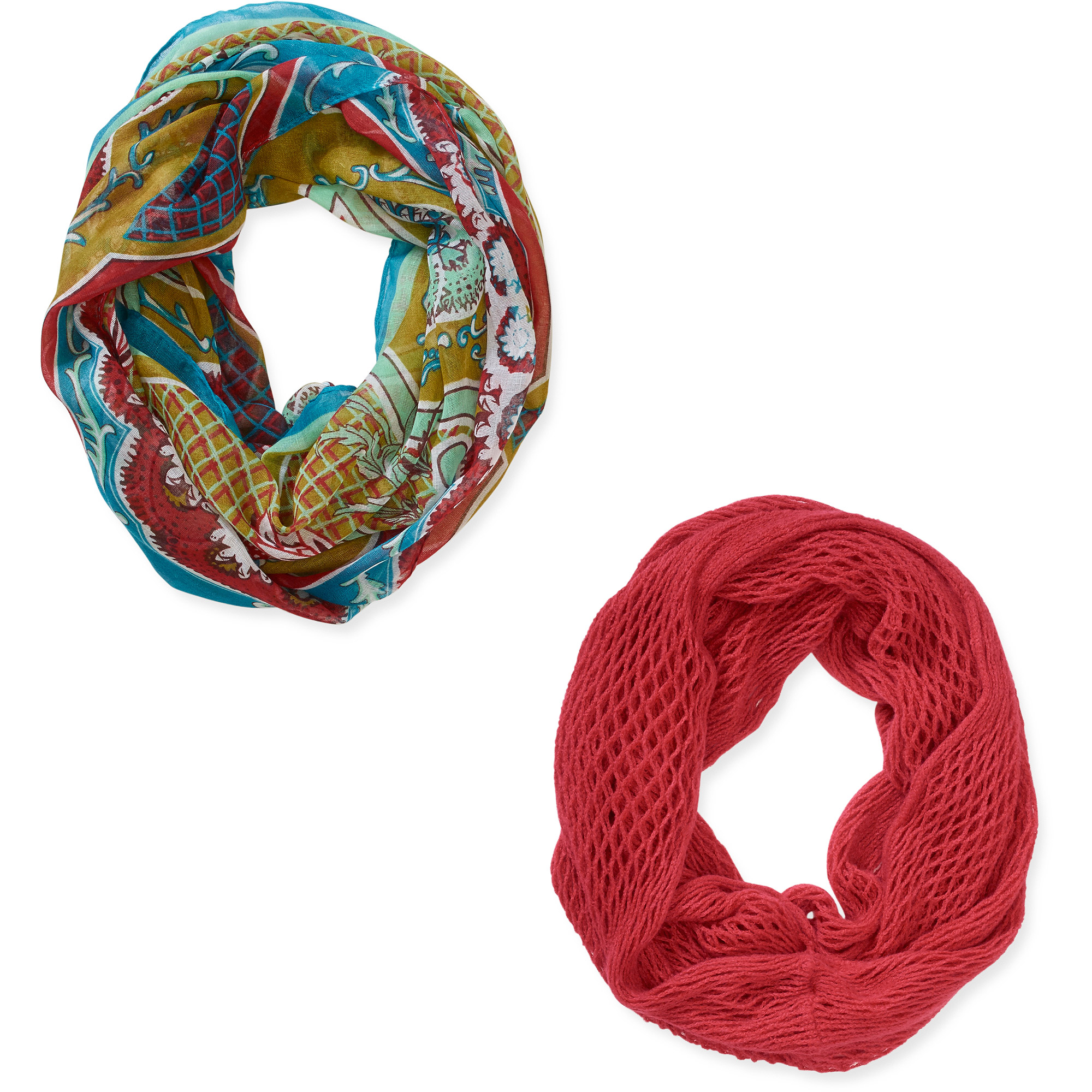 ^^women's Infinity Scarves 2 Pack