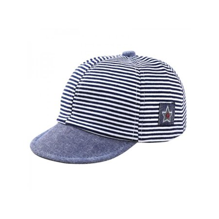 Spring Cap (VICOODA Baby Boys Girls Stripe Star Embroidered Spring Summer Adjustable Anti UV Sun Beret Cap Baseball Cap for 1-2 Years )
