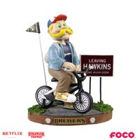 Milwaukee Brewers Stranger Things Mascot on Bike Bobblehead