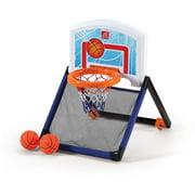 Step2 Floor To Door Toddler Basketball Hoop - Kids Durable Indoor Basketball Court Toy