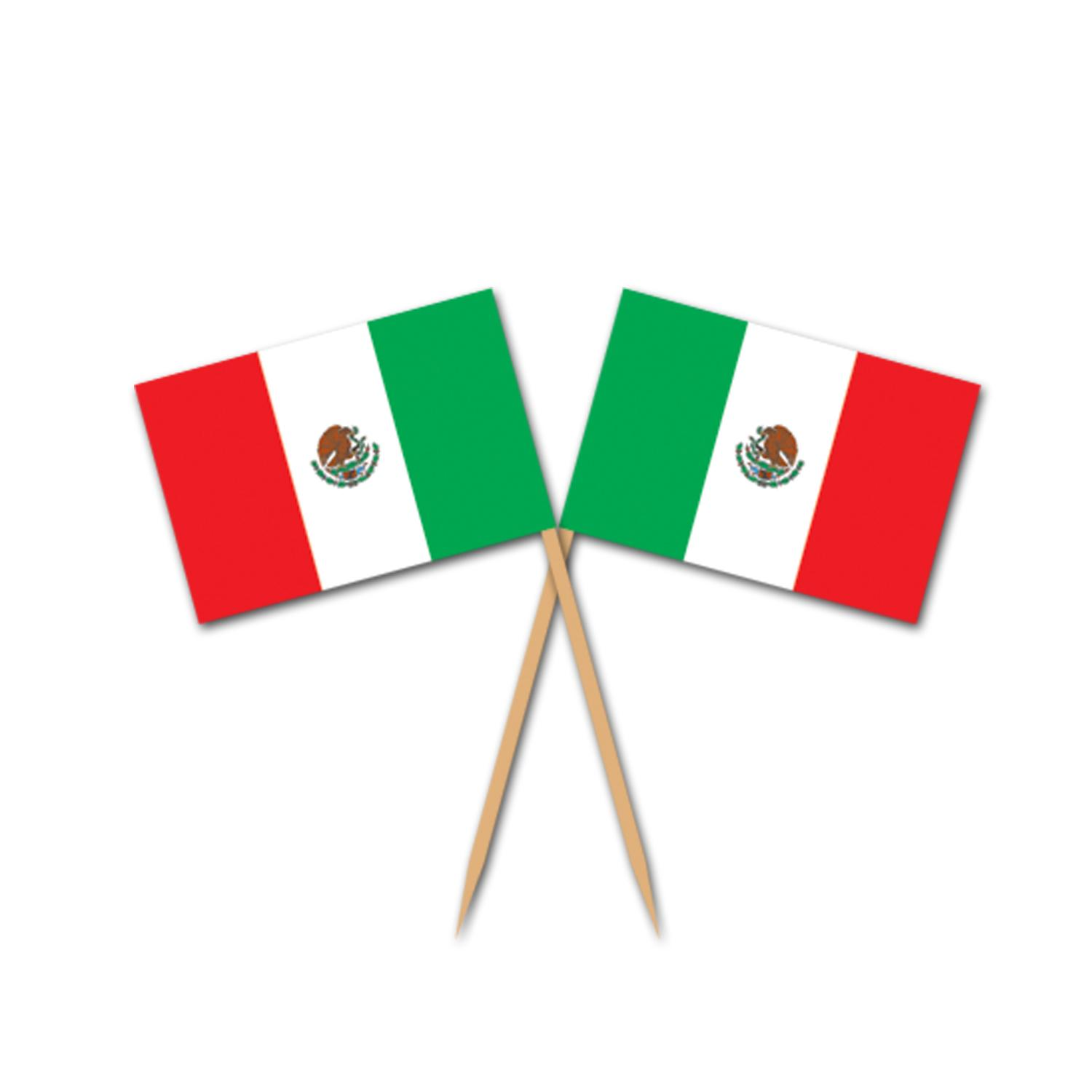 (600ct) Cinco de Mayo Mexican Flag Picks by The Beistle Company