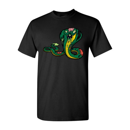 Zombie Snake (Zombie King Cobra Snake Undead Animals Adult DT T-Shirt)