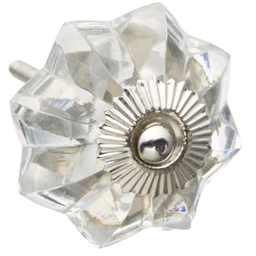 Shabby Restore Clear Acrylic Melon Drawer/ Door/ Cabinet Knob (Pack of 6)
