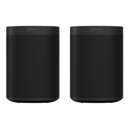 Sonos Two Room Set with Sonos One Gen 2 - Smart Speaker with Voice Control Built-In