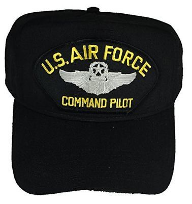 USAF AIR FORCE COMMAND PILOT W/ COMMAND PILOT WINGS HAT CAP AVIATOR VETERAN Command Military Hat