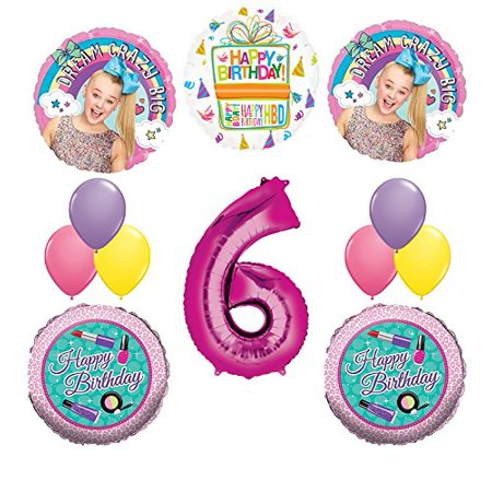 JoJo Siwa Party Supplies Dream Crazy Big 6th Birthday Balloon Bouquet - Lemonade Party Supplies