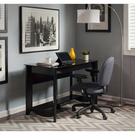 Bush Furniture Aero Collection Writing Desk in Classic Black ()