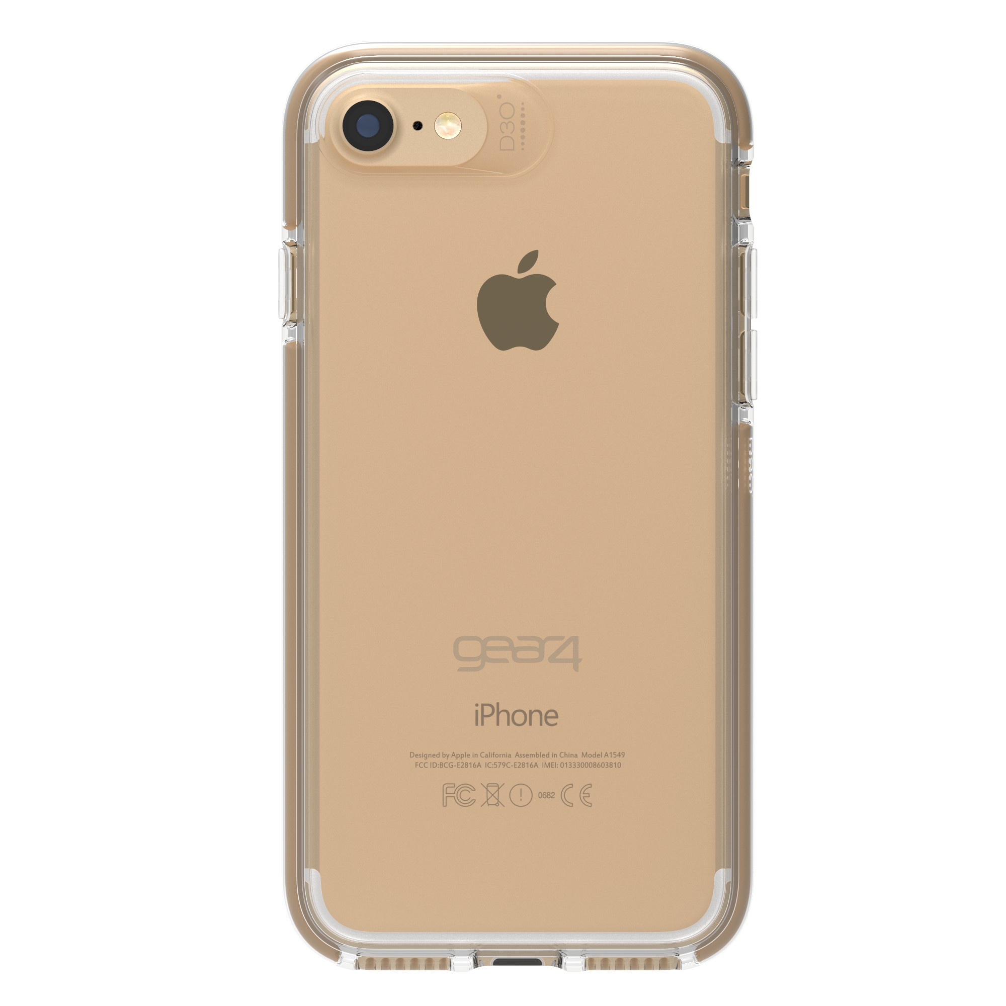 cheap for discount 79b1b f0b8c GEAR4 D3O iPhone 8/7 Clear/Gold Piccadilly case - does not fit 6/6s ...