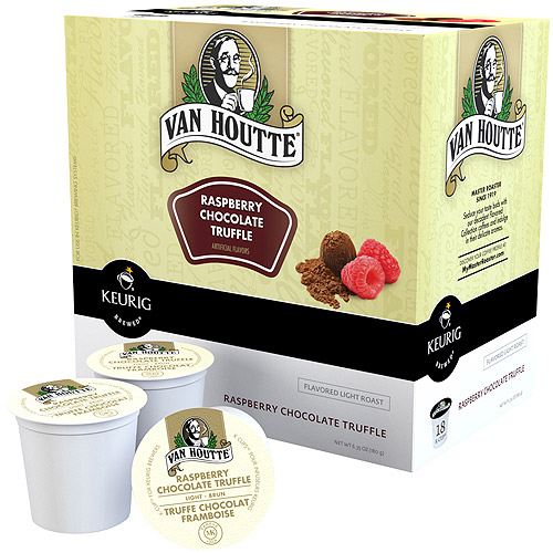 Van Houtte Raspberry Chocolate Truffle Coffee K-Cups, 18 count