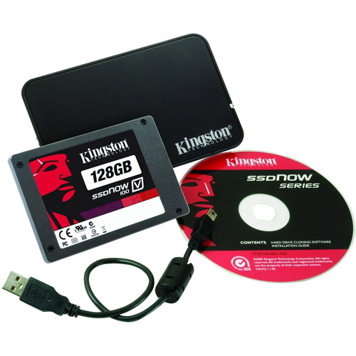 """Kingston SSDNow SV100S2/128G SV100S2N/128GZ SSD V100 128GB 2.5"""" x 7mm SATA II Solid State Drive - Notebook Bundle"""
