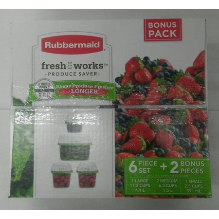 Rubbermaid Freshworks Produce Savers with Bonus Kit, 6 Piece