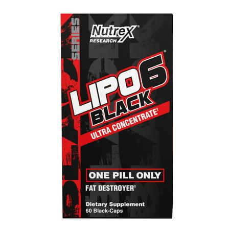 Nutrex Research Lipo-6 Black Ultra Concentrate Fat Burner, 60 Ct