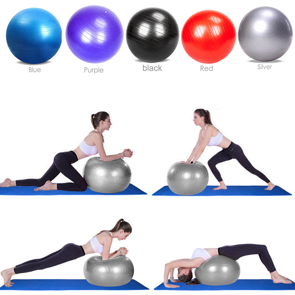 Zimtown 10PCS 55cm / 65cm / 75cm / 85cm Anti-Burst Exercise Yoga Balance Ball - Fitness Stability Training Ball with Air Pump for Pilates Workouts Weight Loss, Home Gym