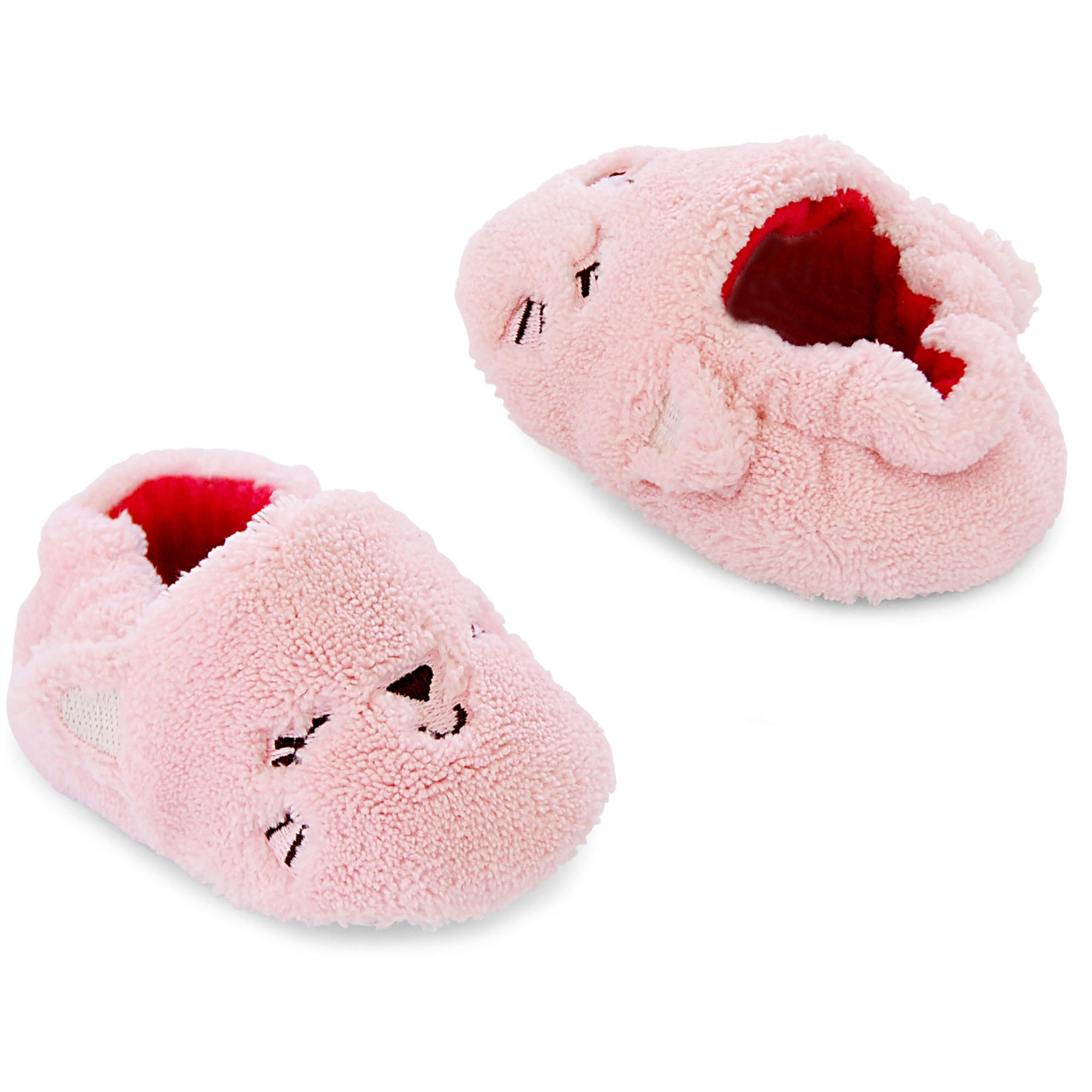 Child of Mine by Carter's Newborn Baby Girl Kitty Slippers, 0-3M