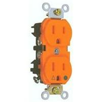 Isolated Ground Duplex Receptacle Orange 15A-125V