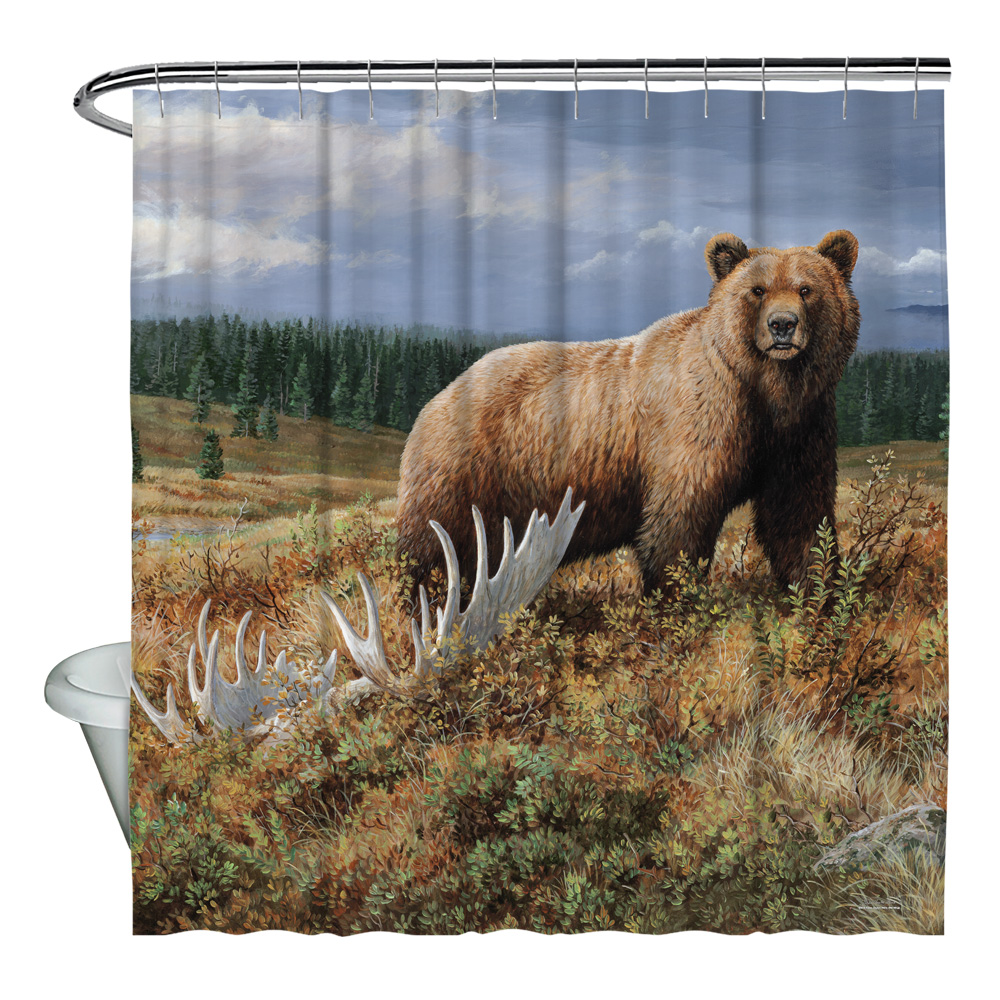 Wild Wings Autumn Splendor 2 Shower Curtain White 71X74