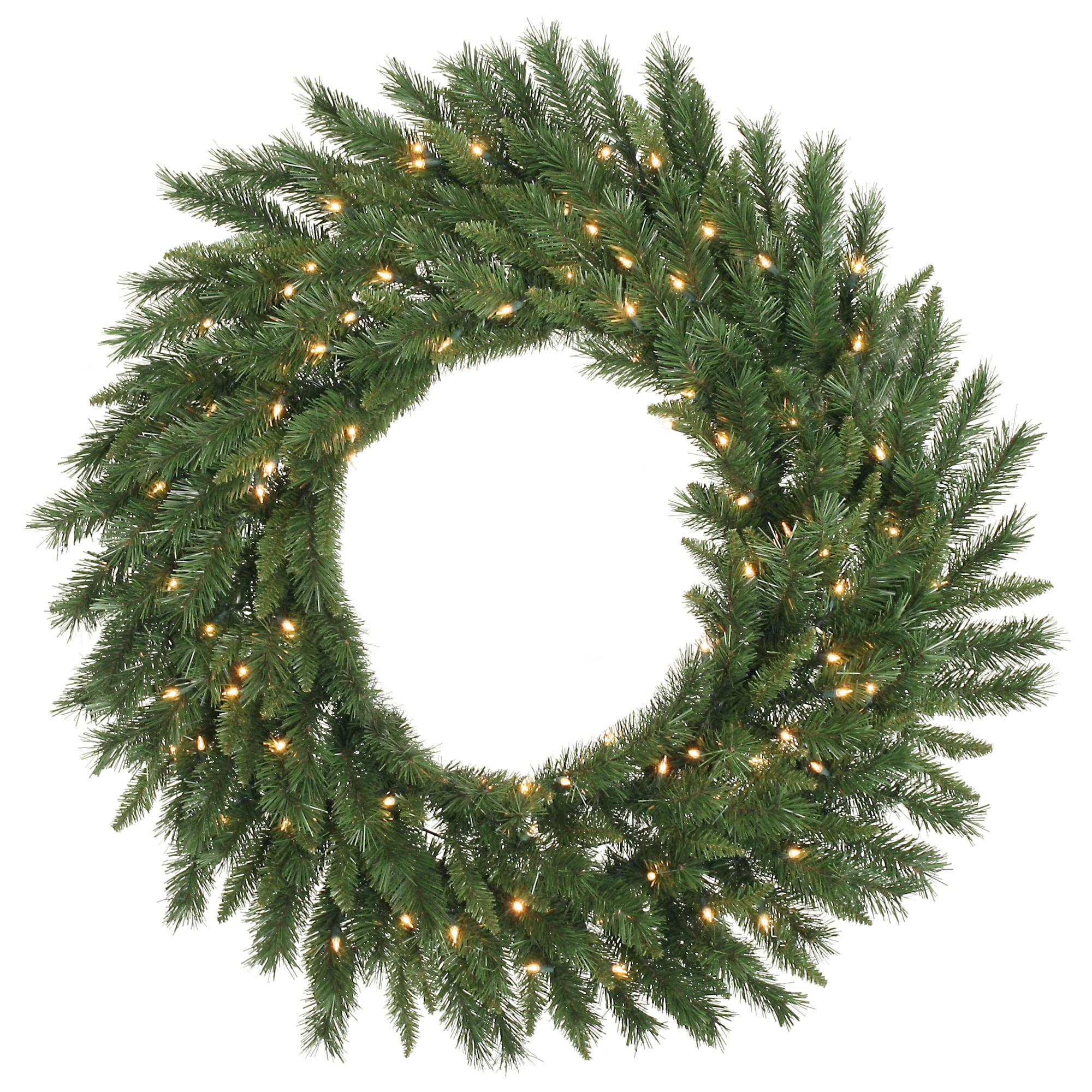 Vickerman 72 Imperial Pine Wreath 200 Warm White Lights LED