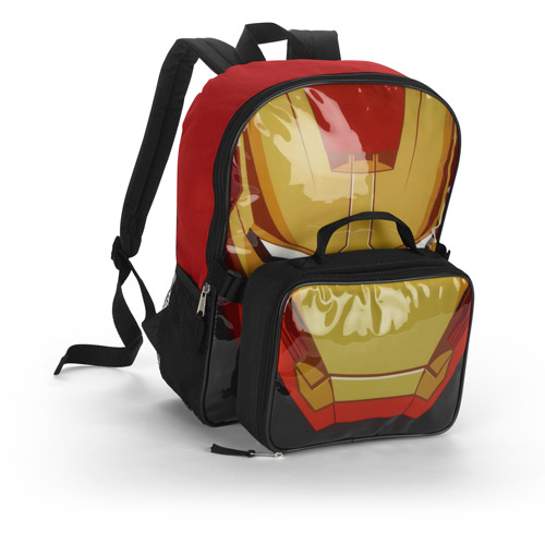 """Iron Man Red 16"""" Backpack with Snack Pack"""