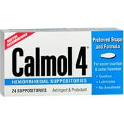 Calmol 4 Hemorrhoidal Suppositories 24 Each