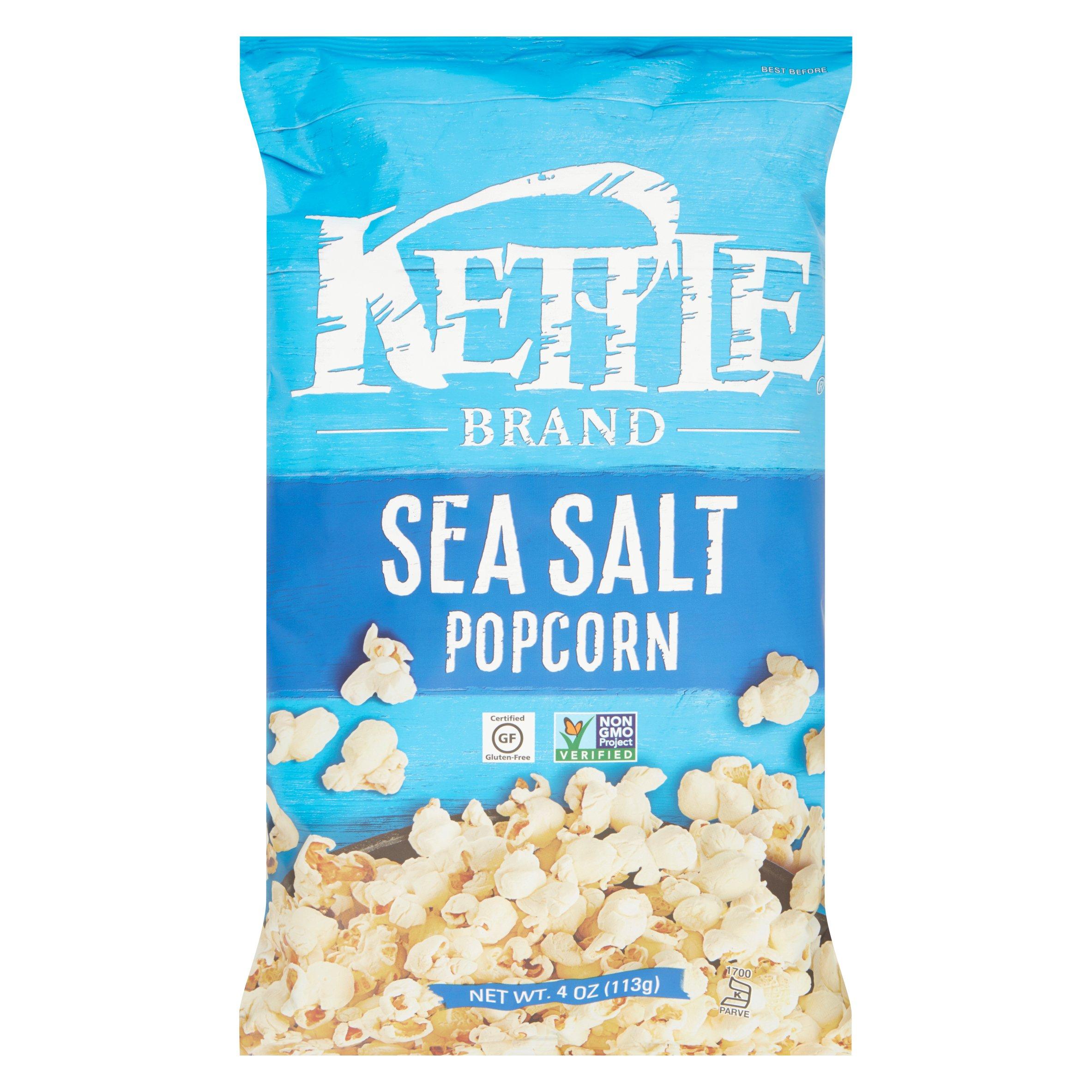 Kettle Brand Sea Salt Popcorn, 4 oz